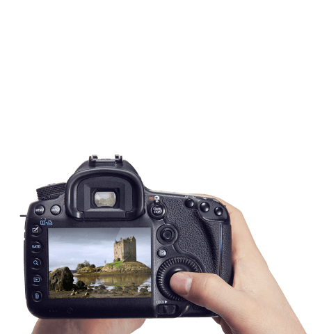 taking picture of Scotland scenery